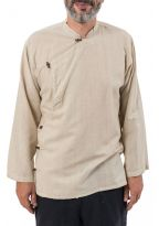 Chemise tibetaine homme ouverture laterale
