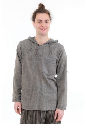 Chemise ethnique transformable capuche Paoh face
