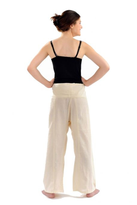Pantalon pecheur Thai couleur creme