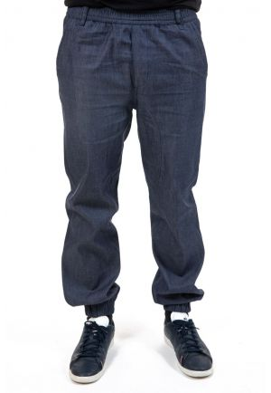 Pantalon jogging jean denim Khela zoom
