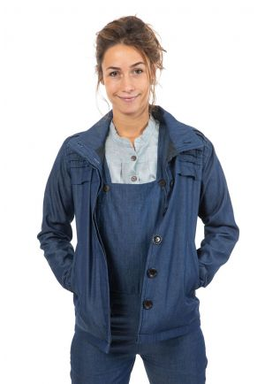 Veste denim et polaire douce Rangah face