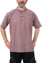 Chemise chanvre homme ethnique col mao Wiid