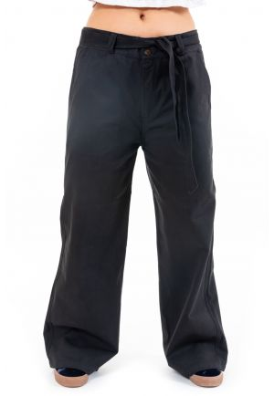 Pantalon regular large twill epais Tiloh