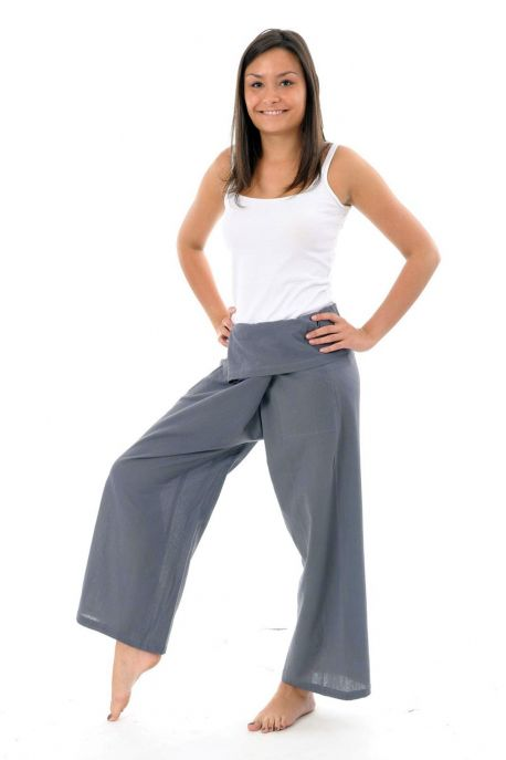 Pantalon fisherman gris