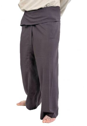Pantalon Fisherman Thai marron