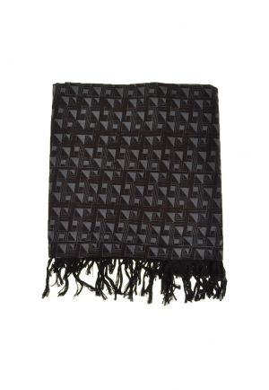 Foulard cheche ethnic triangularis psyche gris