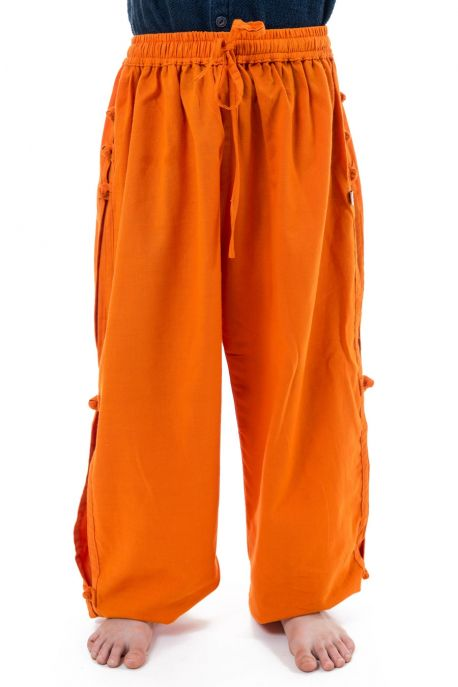Pantalon japonais enfant modulable orange full size zoom