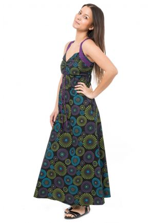Robe longue originale decollete modulable Naraka